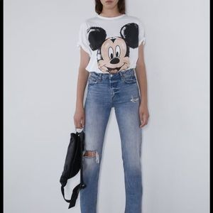Zara Disney Mickey Mouse Balloon Shirt M